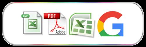 Formatos Excel google para listados de empresas